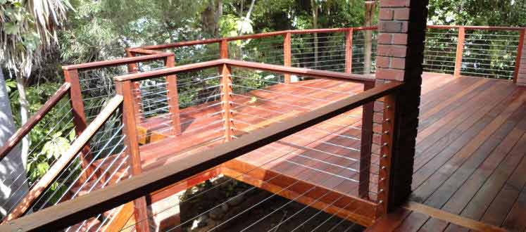 Raised Hardwood Decking Feature